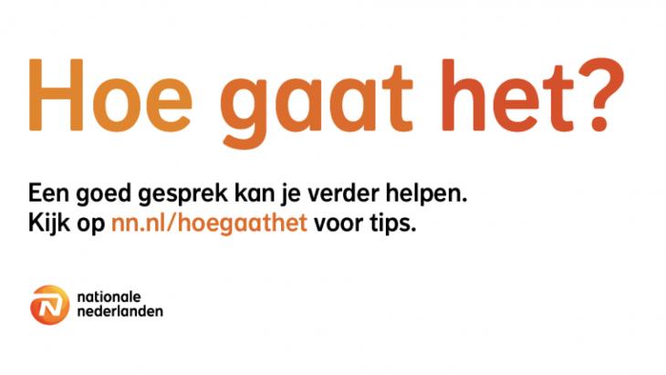 Nationale-Nederlanden presenteert nieuwe campagne: 'Hoe gaat het?'