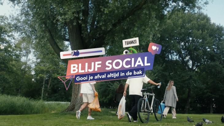 Gemeente Amsterdam wijst jongeren op hun a-sociale gedrag met 'Blijf social'-campagne
