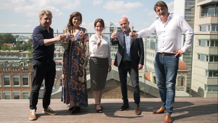 Willem Sijthoff (o.a. Capital C), Soraya Odendaal (ADCN), Wendy Pouw (Via), Cees Polman (MWG) en Thomas Zwart (Capital C)