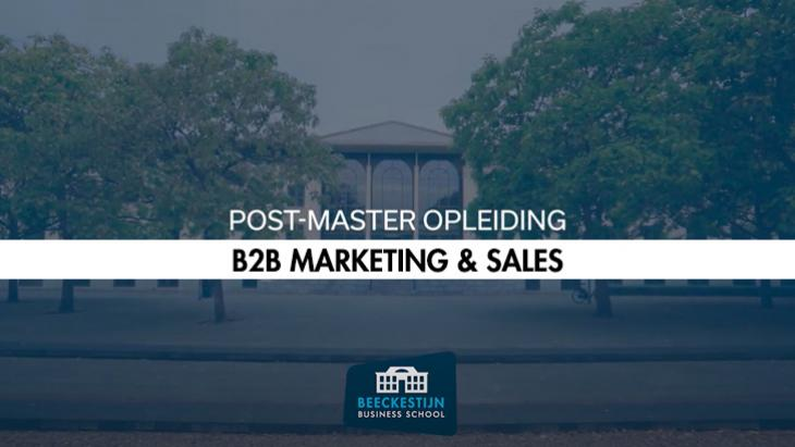 Beeckestijn opleidingen: B2B Marketing & Sales