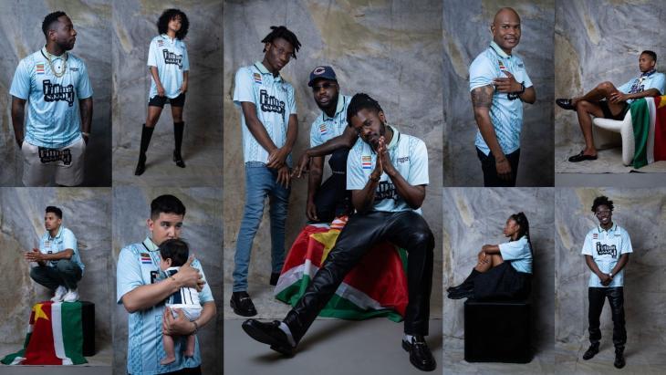 Het Unity for Suriname voetbalshirt, samen met de speciaal ontworpen speld, is uitgebracht op Keti Koti en is alleen op 1 juli verkrijgbaar.