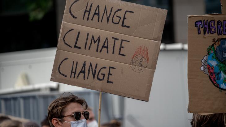 Protest tegen klimaatverandering