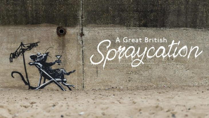 Banksy laat spoor van kunst na tijdens vakantie