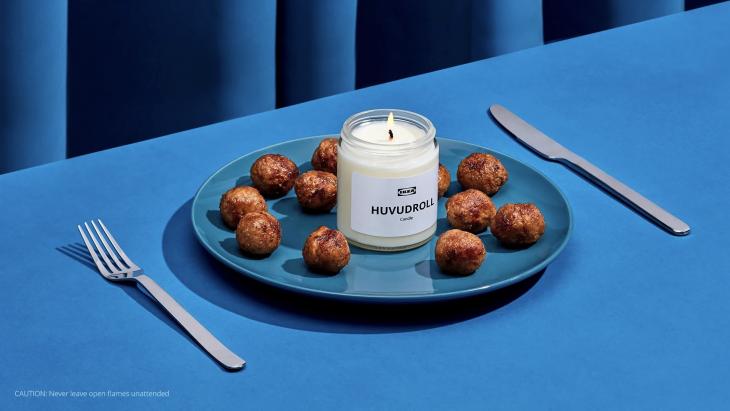Ikea viert jubileum met het uitbrengen van Zweedse gehaktballen-geurkaars