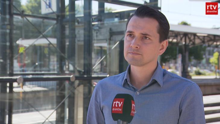 Andy Wiemer eerder voor de camera's van RTV Drenthe