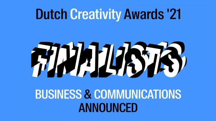 Eerste finalisten van de Dutch Creativity Awards bekend