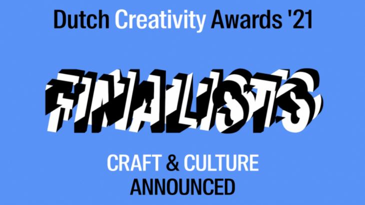 Finalisten van de Dutch Creativity Awards in de categorieën Craft & Culture bekend