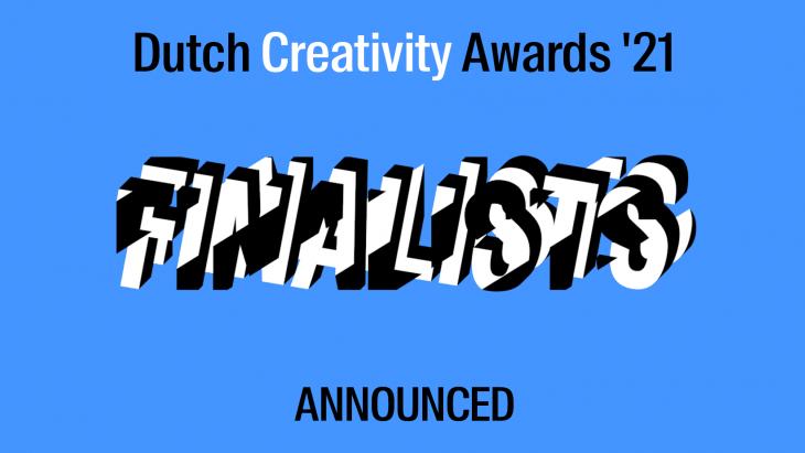 Alle finalisten voor de Dutch Creativity Award 2021 bekend