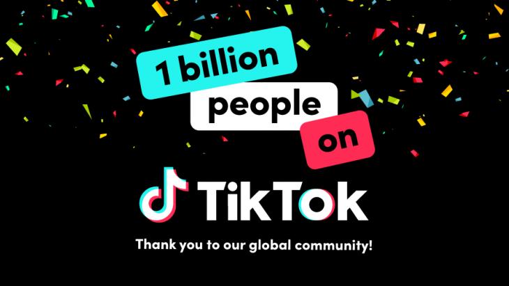 1 miljard tiktok gebruikers