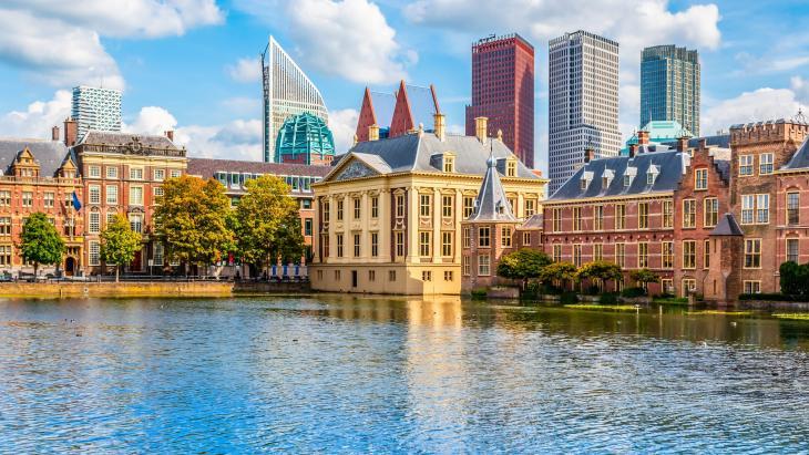 Hofvijver en ministeries Den Haag