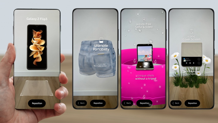 Samsung Galaxy AR experience