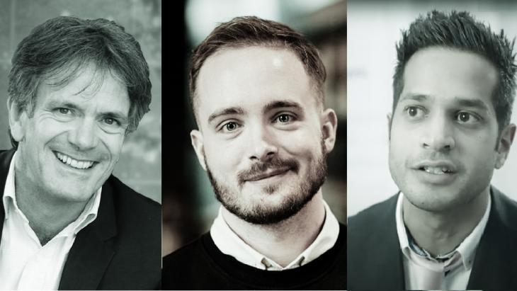 Ward van Beek, Hemmo Bosscher en Zahier Madhar