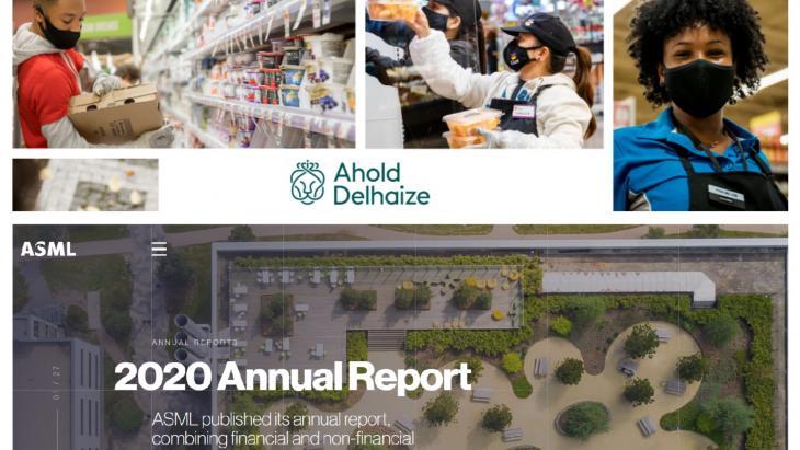 De twee jaarverslagen die als beste uit de bus kwamen, Ahold Delhaize en ASML